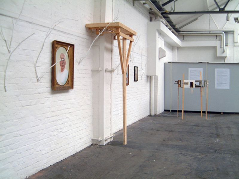 'Anthropophobies & Etholomanies / Anonymous, Rivals, Borderers', partial installation view, Flottmannhallen Herne (D) 2003 / 2004