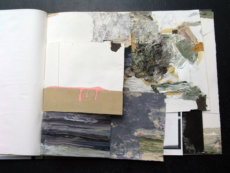 'Outros 11' ('Other 11'), mixed media, 60,7 x 71,5 cm (open book: 141,5 cm), 11 sheets, 2006 - 2012