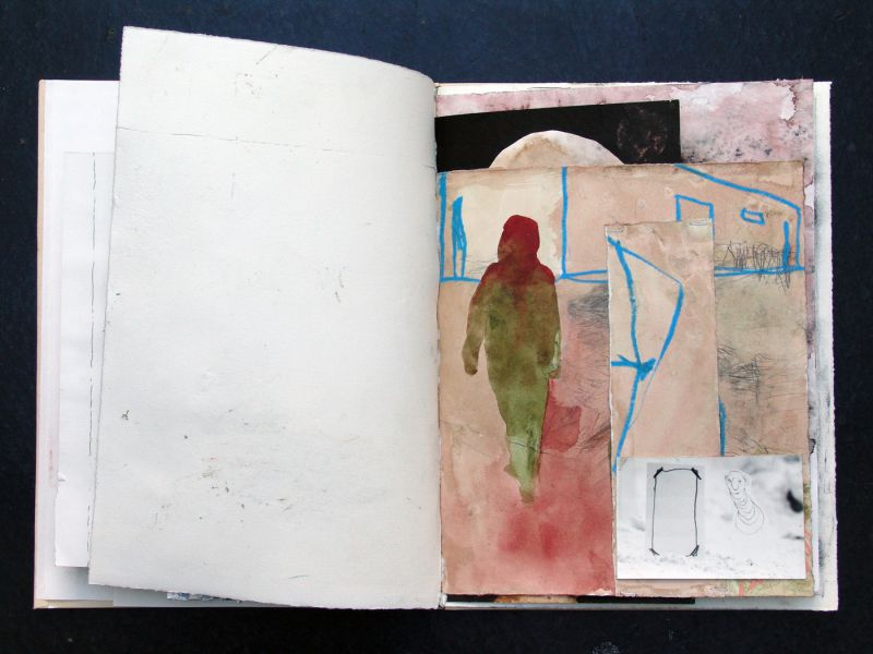 'Outros 14' ('Other 14'), mixed media, 42,6 x 32,5 cm (open book: 64 cm), 14 sheets, 2006 - 2012