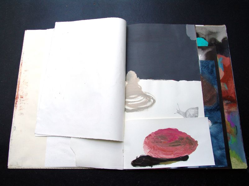'Outros 23' ('Other 23'), mixed media, 77 x  57,3,5 cm (open book: 114,6 cm), 23 sheets, 2007 - 2012