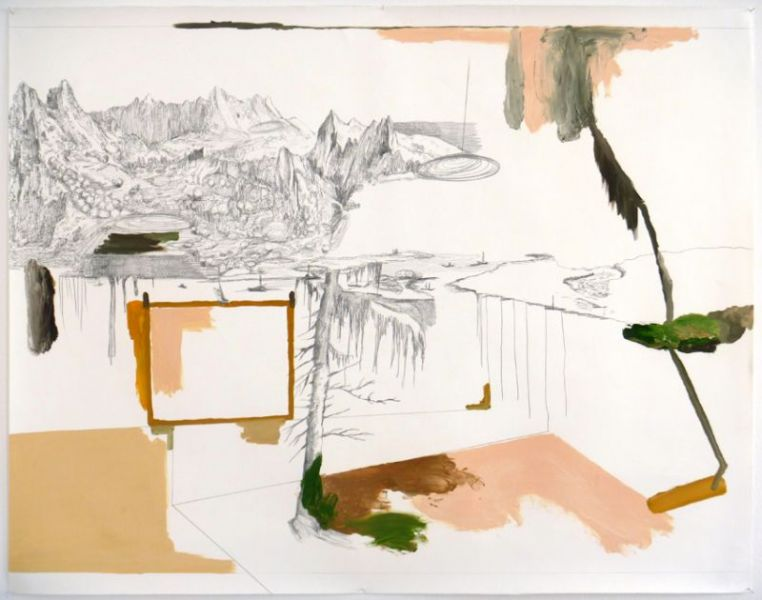 from the series 'In Between Time' (''Entre el Tiempo' / 'Entre o Tempo'), graphite and oil on paper, 109  x 140 cm, 2010