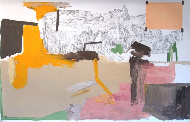 from the series 'In Between Time' (''Entre el Tiempo' / 'Entre o Tempo'), graphite and oil on paper, 89,5  x 140 cm, 2010