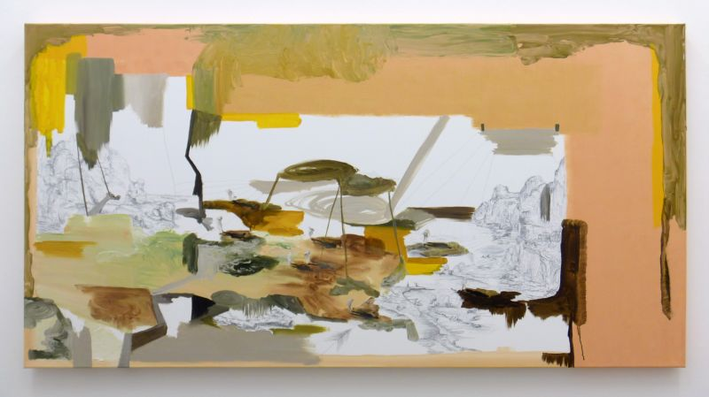 from the series 'In Between Time' (''Entre el Tiempo' / 'Entre o Tempo'), graphite and oil on canvas, 90  x 180 cm, 2010
