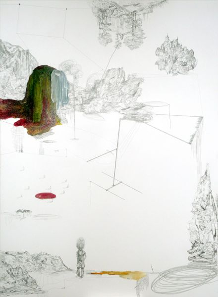 from the series 'In Between Time' (''Entre el Tiempo' / 'Entre o Tempo'), graphite an oil on canvas, 140  x 100 cm, 2010/2011