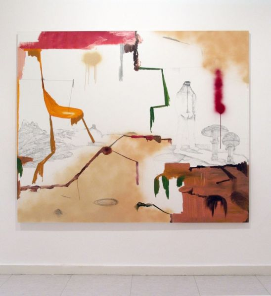 from the series 'In Between Time' (''Entre el Tiempo' / 'Entre o Tempo'), graphite, varnish and oil on canvas, 190  x 230 cm, 2010
