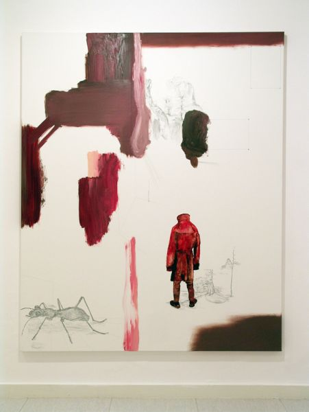 from the series 'In Between Time' (''Entre el Tiempo' / 'Entre o Tempo'), graphite and oil on canvas, 230  x 190 cm, 2010