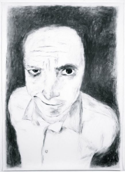 from the series 'Harmless Solitaries', charcoal on paper, 200 x 140 cm, 2001