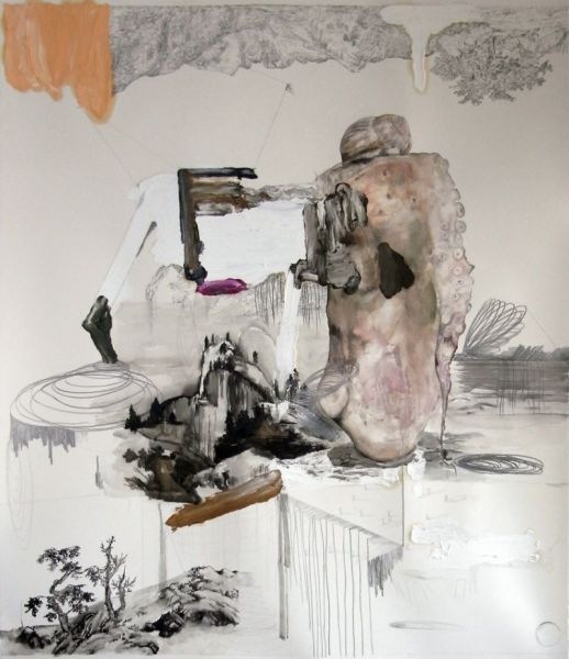 from the series 'Trans-Planas & Trans-Plantas', water coulor, oil and graphite on paper, 135 x 115 cm, 2011