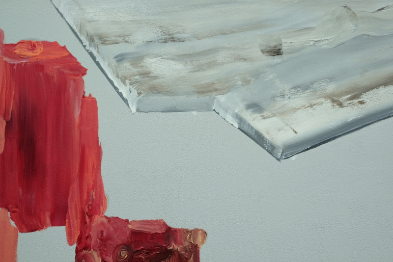 'The Possibility of Isolation', detail: oil colour on acrylic colour on canvas
