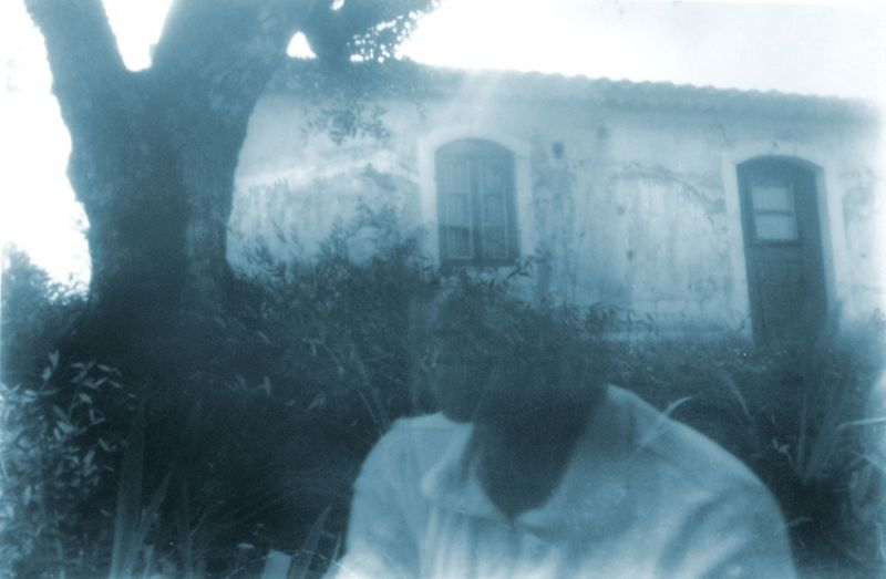 from the series 'Harmless Solitaries (Sintra)', blue-toned black and white camera-obscura-photography on PE coated paper, 40 x 70 cm, 2001