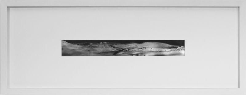 from the series 'Portable Landscapes': 'Panorama / Travel Urge', silver bromide photography, 39,5 x 5 cm, 1998