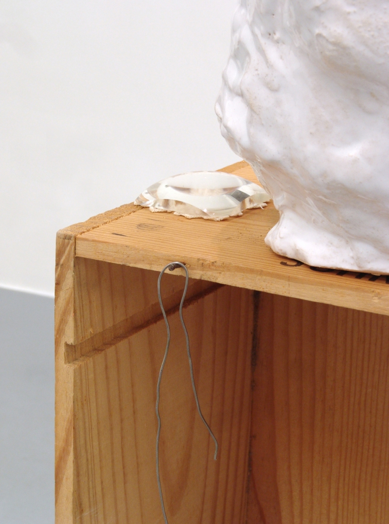 'Private Collection', detail: ceramics, wood, loupe, crochet, nail and lead,  2013 - 2015,
